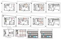 Office design plan detail
