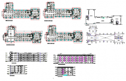 100 bed hostel layout