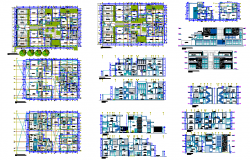 Apartment House detail DWG file