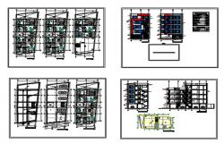5floors building dwg.file