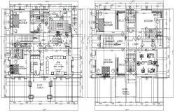 6 BHK Residential Mansion House Design Plan