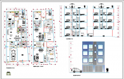 Multi Family House Plan DWG
