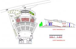 Auditorium in autocad drawing