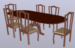 3d wooden Dining Table