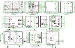 Bedroom interiors detail in Autocad
