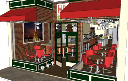 3d restaurant interior design