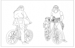 people on bicycle