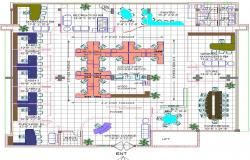 Bank interiors layout plan