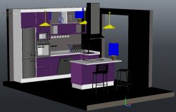 3D Kitchen Detail