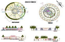 Restaurant and Shops Detail Plan