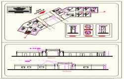 Reception building plan