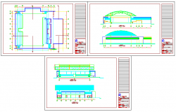 GYM designing drawing on architectural based design