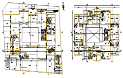 Working layout of House design drawing