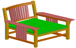 3D drawing of Chair
