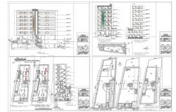 Office building architecture drawing in autocad