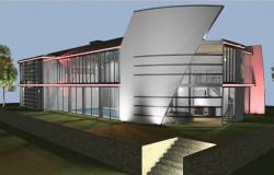 3d residence modern Home