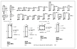 Column DWG design File