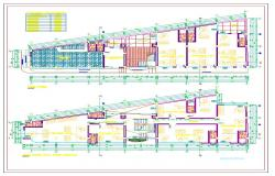 Commercial architecture plan detail in cad