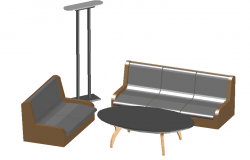 3d Sofa set with center table