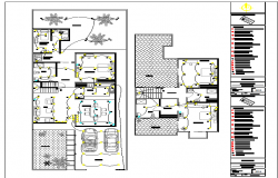 Electrical layout plan of residential building dwg