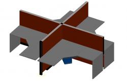 3D desk table Design