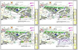 Modern Hotel Lay-out DWG File Detail