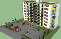 3d Multistory residence apartment