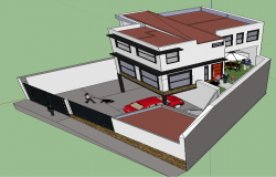 3D Duplex Home Design