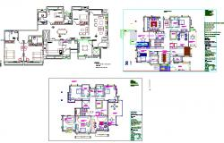 Bungalows plan design file