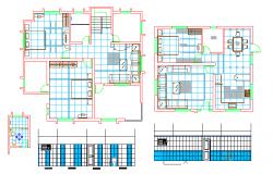 Duplex House Layout & bathroom Detail