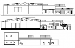 A detail in section and elevation detail dwg file
