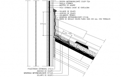 A detail in the mezzanine section of each material used and features dwg file