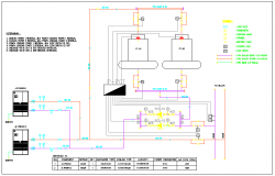 AC and cooling tower schematic diagram