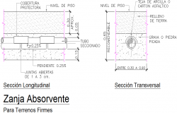 Absorption trenches detail dwg file