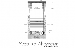 Absorption well section detail dwg file
