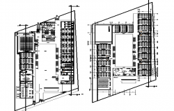 Academic layout plan dwg file