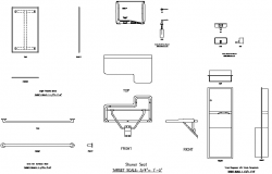 Accessories toilet detail dwg file