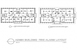 Admin Building Fire Alarm Layout Plan