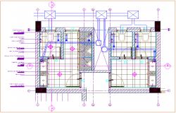 Admin public toilet plan view dwg file