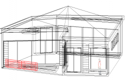 Administration building  elevation design dwg file