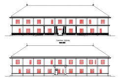 Administration building elevation dwg file