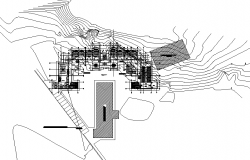 Administration center plan detail dwg file