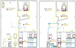 Administrative corporate office architecture layout dwg file