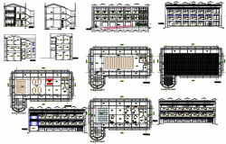 Administrative hall dwg file
