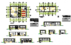 Administrative offices design drawing
