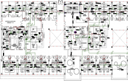 Air Conditioning System Hospital Project Structure Details dwg file