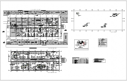Air condition system plan view with its legend for hospital dwg file