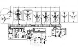 Airplane Hangar Plan DWG