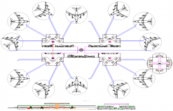 Airport Project Detail dwg file