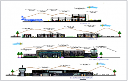 Airport Section View dwg file